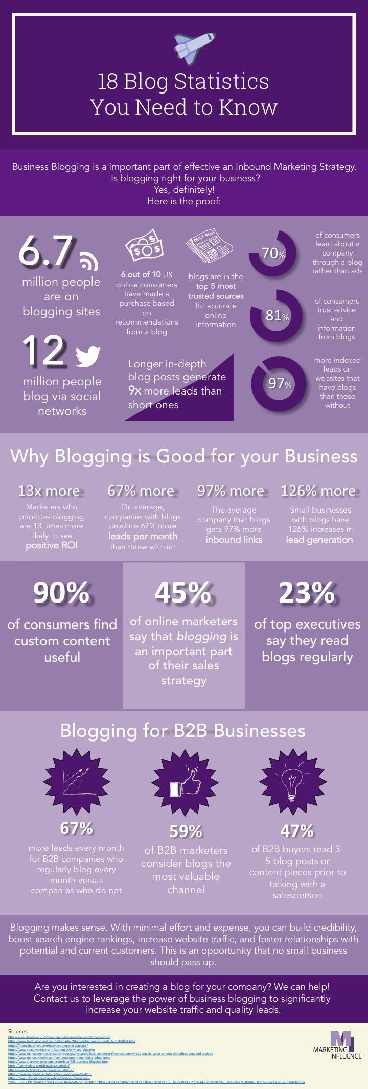 Blog Statistics Infographic