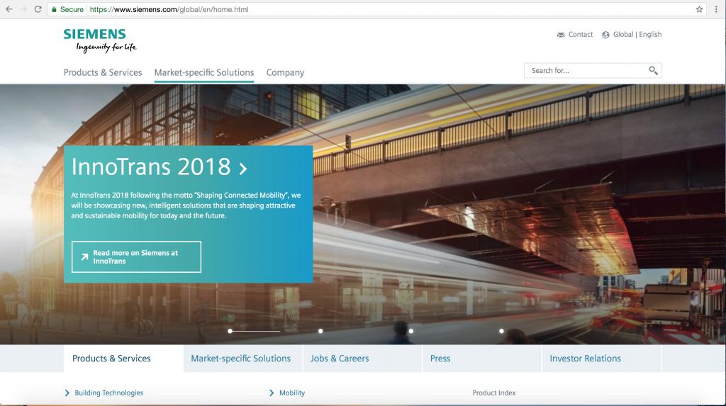 Siemens International Website